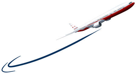 Illustration for Airplane flying up in the sky illustration - Royalty Free Image