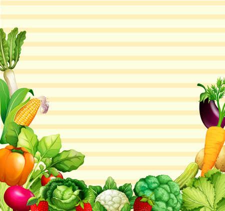 Foto für Paper design with vegetables and fruits illustration - Lizenzfreies Bild
