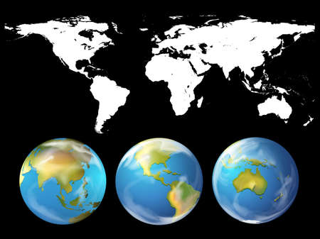 Illustration pour Geography theme with world atlas illustration - image libre de droit
