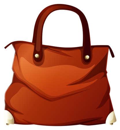 Illustration pour Handbag on white background illustration - image libre de droit