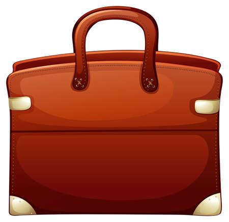 Illustration pour Brown briefcase on white background illustration - image libre de droit