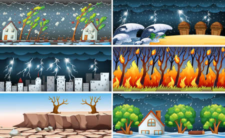 Illustration pour Natural Disaster illustration - image libre de droit