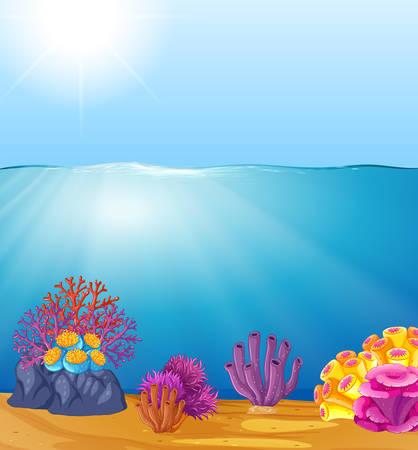 Illustration pour Beautiful deep water template illustration - image libre de droit