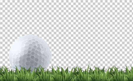 Ilustración de Golf ball on grass  illustration - Imagen libre de derechos