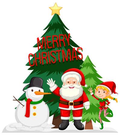 Illustration pour Merry Christmas card concept illustration - image libre de droit