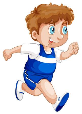 Ilustración de A boy running character illustration - Imagen libre de derechos