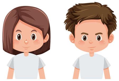 Ilustración de Boy and girl face  illustration - Imagen libre de derechos