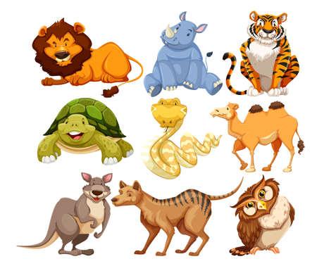 Foto de Set of wild animals illustration - Imagen libre de derechos