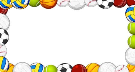 Ilustración de A sport ball frame illustration - Imagen libre de derechos