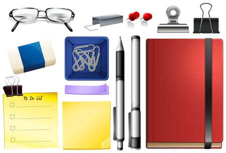Illustration for Set of stationary object illustration - Royalty Free Image
