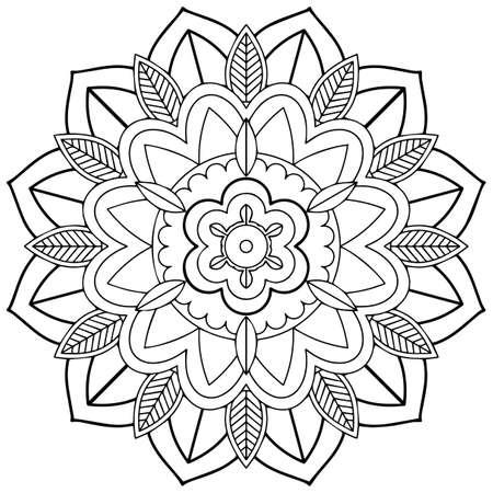 Illustration pour Mandala pattern design on white background illustration - image libre de droit