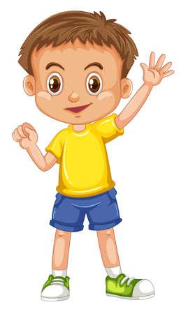 Ilustración de Cute happy smiling child isolated on white background illustration - Imagen libre de derechos
