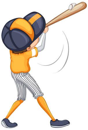 Photo for Athlete doing baseball hit on white - Royalty Free Image