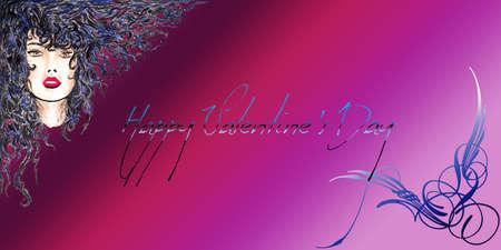 Happy Valentine s Day Brown Woman