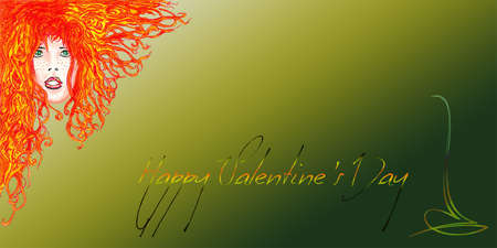 Happy Valentine s Day Red Woman