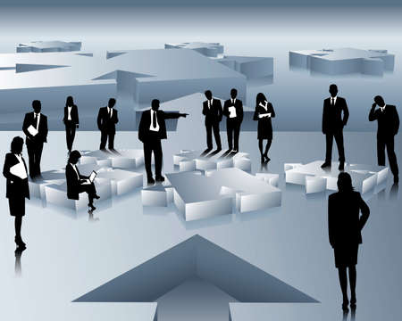 Vektor für company and business people - Lizenzfreies Bild