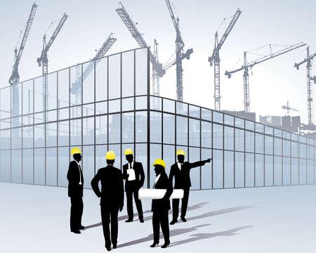 Photo pour architects on a construction site - image libre de droit