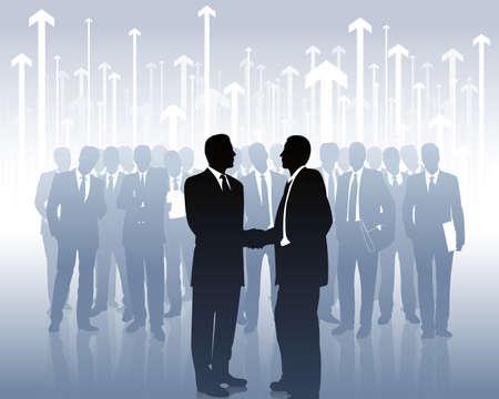Illustration pour business partners - image libre de droit