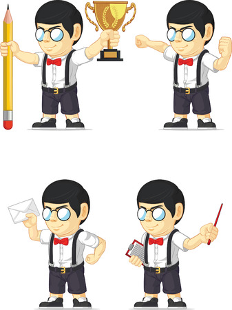 Nerd Boy Customizable Mascot 13