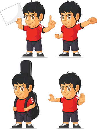 Soccer Boy Customizable Mascot 10