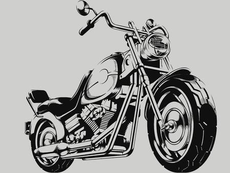 Illustration pour Vintage Motorcycle Vector Silhouette - image libre de droit