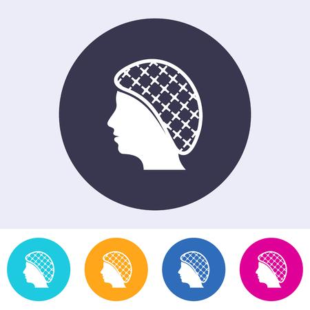 Ilustración de Single vector hairnets must be worn icon - Imagen libre de derechos