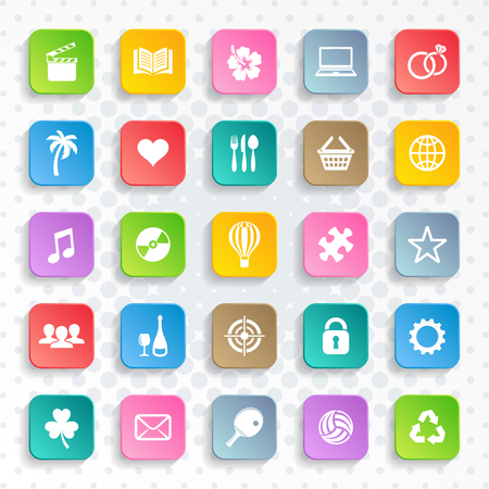 Illustration pour Abstract vector modern web and mobile icons - image libre de droit