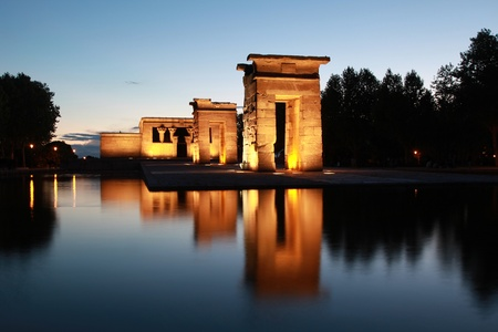 The Temple of Debod in Madrid originally comes from Egypt