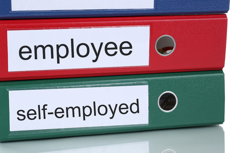 Employee or self-employed occupation career business concept in office
