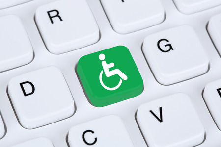 Web accessibility online on internet website computer for handicap people with disabilities