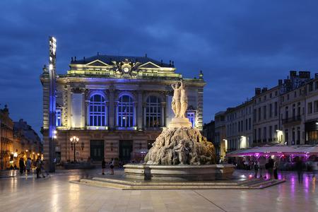 Montpellier France Place de la Comedie Opera square