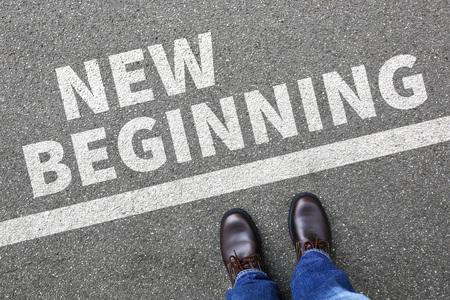 Foto de New beginning beginnings old life future past goals success decision change decide - Imagen libre de derechos