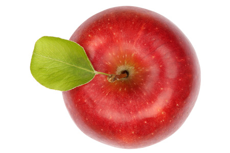 Photo for Apple fruit red top view isolated on a white background - Royalty Free Image