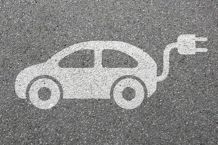 Photo for Electric car charging station vehicle street road traffic eco friendly mobility transportation - Royalty Free Image
