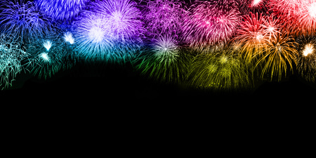 Photo for New Year's Eve fireworks background copyspace copy space colorful banner years year firework backgrounds - Royalty Free Image