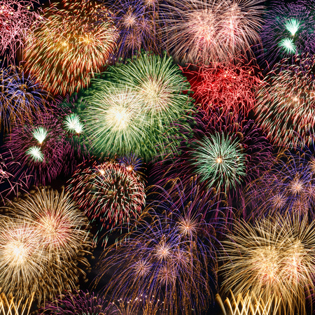Foto de New Year's Eve fireworks background years year square firework backgrounds - Imagen libre de derechos