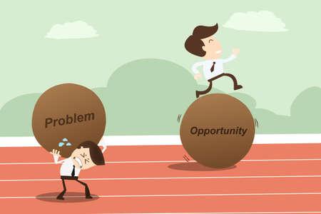Illustration pour Problem opportunity ,Business Concept - image libre de droit