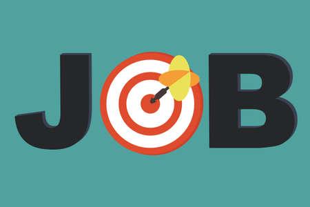 Illustration pour Focus Job - career counseling concept - image libre de droit