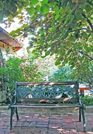 Shaded Bench