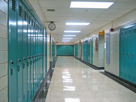 Empty Hallway in a Public School
