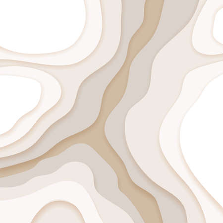 Illustration for Abstract beige background in paper cut and craft style - Royalty Free Image