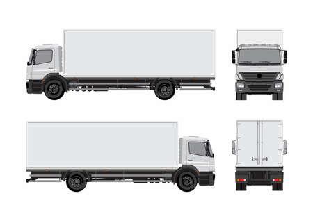 Illustration pour Commercial cargo truck template - image libre de droit