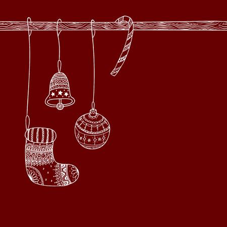 Vector Christmas Invitation Card Of Christmas Decorative
