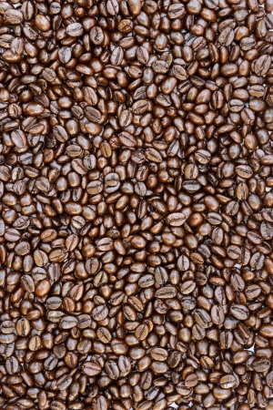 Texture of coffee beans