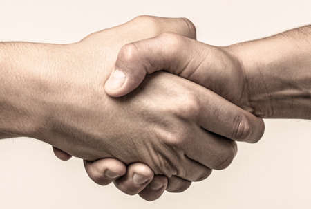 Photo for Rescue, helping gesture or hands. Strong hold. Two hands, helping hand of a friend. Handshake, arms friendship - Royalty Free Image