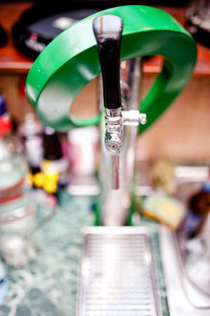 beer tap used for draught beer in restaurant and bar