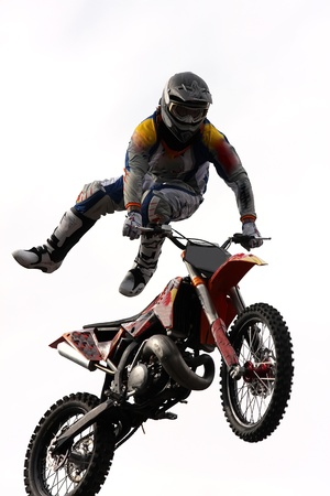 Belgrade, Serbia - May 31, 2009 - Unidentified motocross rider on Red Bull X Fighters Exhibition Tour in Belgrade, Serbia.