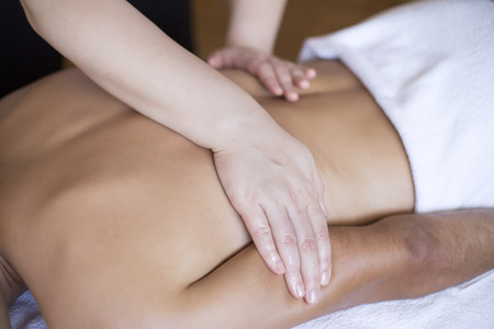 Photo for Young man having a massage - Royalty Free Image