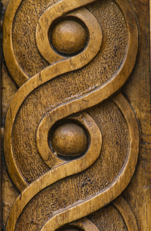 Foto per Close up view at wooden carving shapes - Immagine Royalty Free