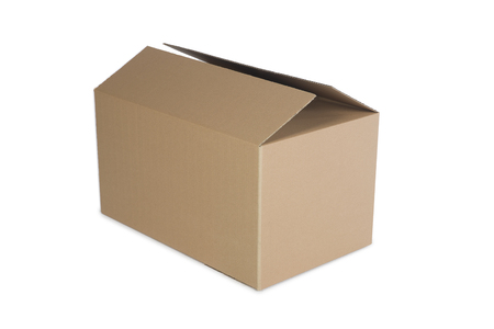 Photo for Closed cardboard box isolated on the white background - Royalty Free Image